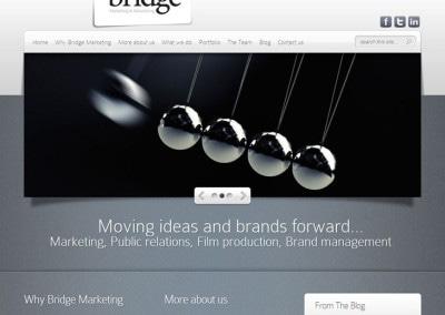 Bridge Marketing website