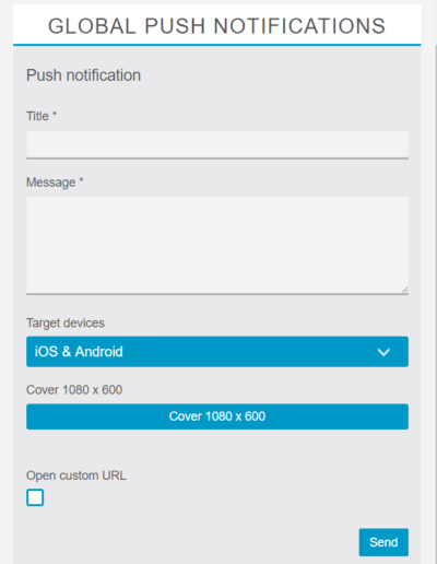 Type and send notifications