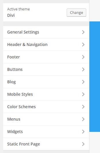 Main settings