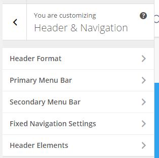 Inside header and Navigation