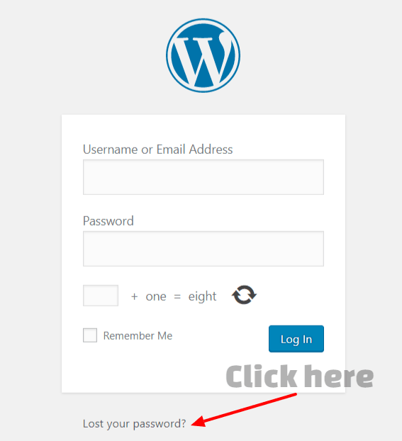 Wordpress login, where to login and how to reset your